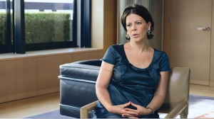 Portrait d'Alexandra Palt, Directrice Responsabilité Sociétale et Environnementale chez L'Oréal, en 2014.